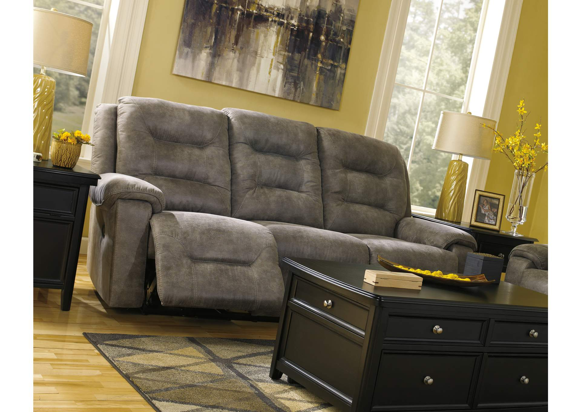 Rotation Smoke Reclining Power Sofa,Signature Design By Ashley