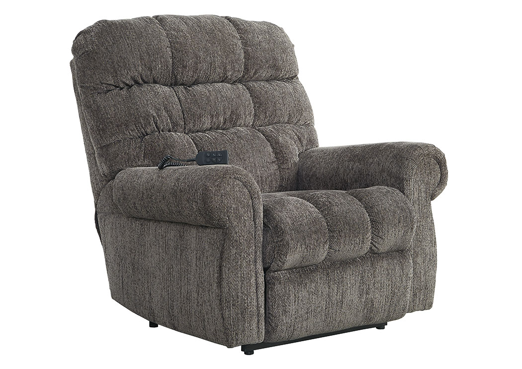 Ernestine Slate Power Lift Recliner,Signature Design By Ashley