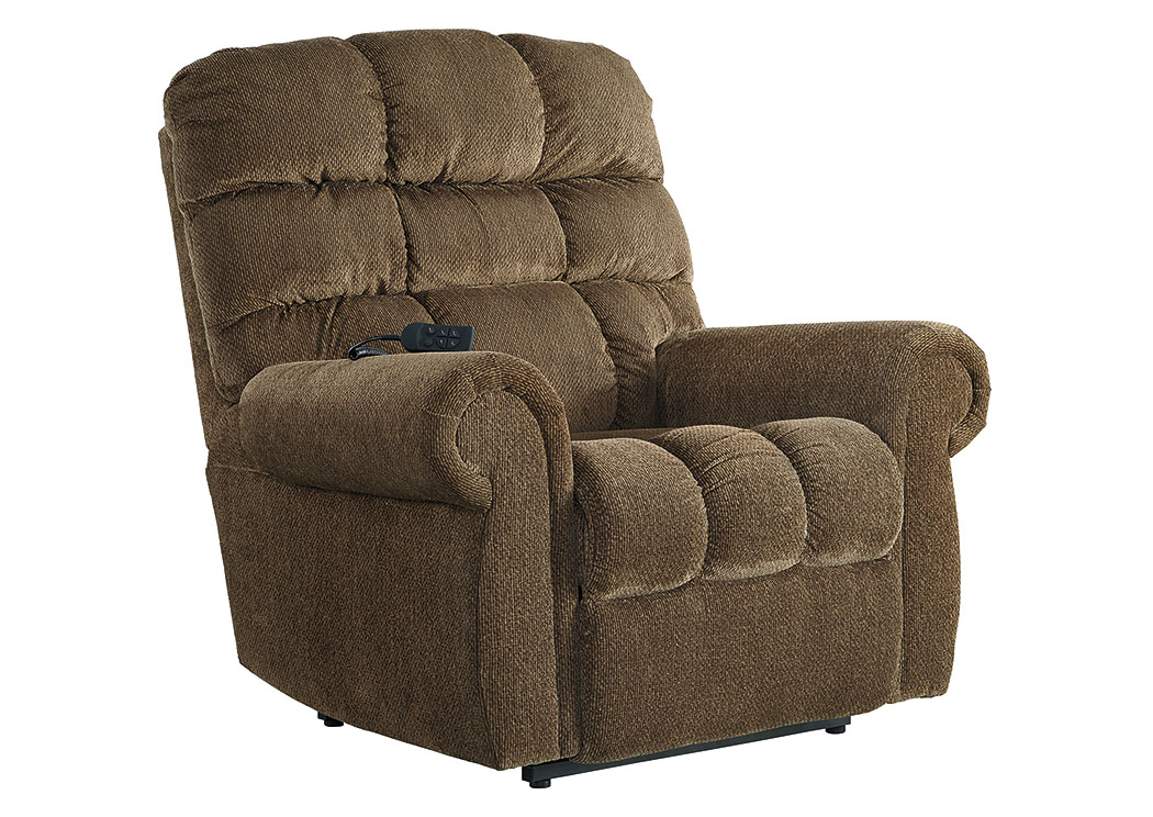Ernestine Truffle Power Lift Recliner,Signature Design By Ashley