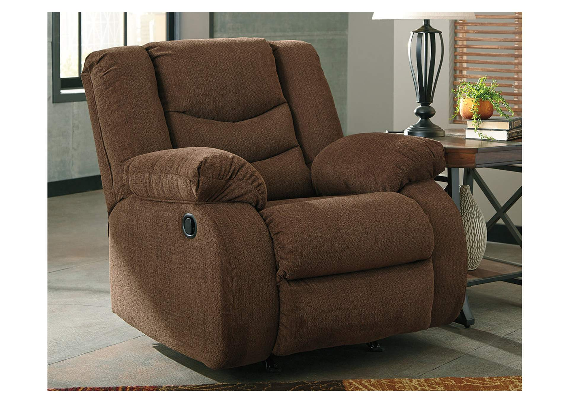 Tulen Chocolate Rocker Recliner,Signature Design By Ashley