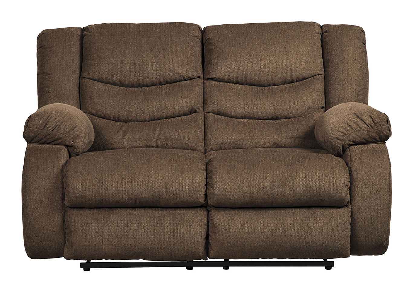 Tulen Chocolate Reclining Loveseat,Signature Design By Ashley