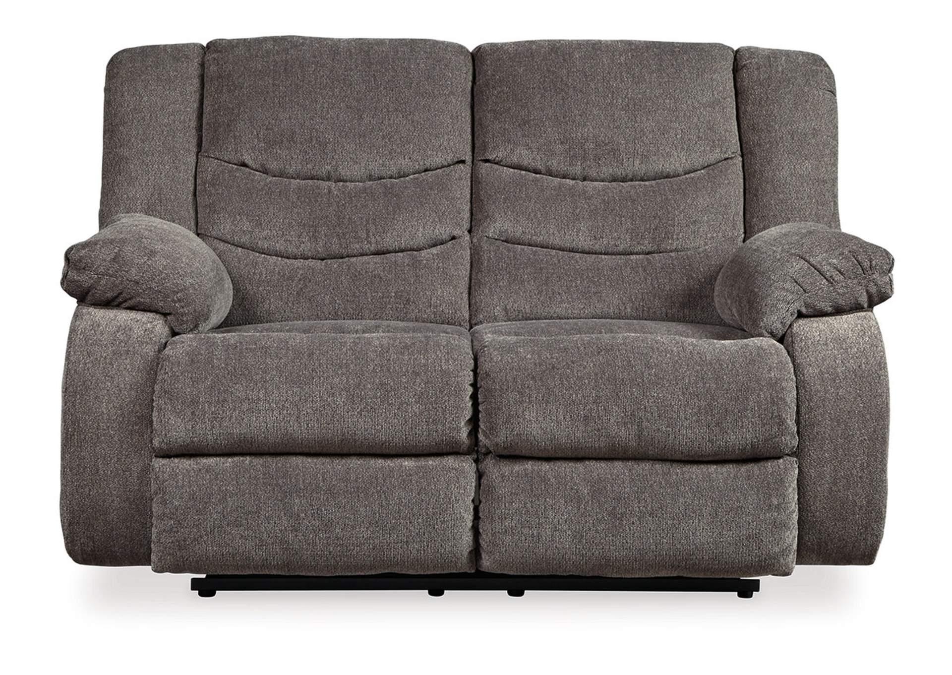 Kemper Furniture Tulen Gray Reclining Loveseat