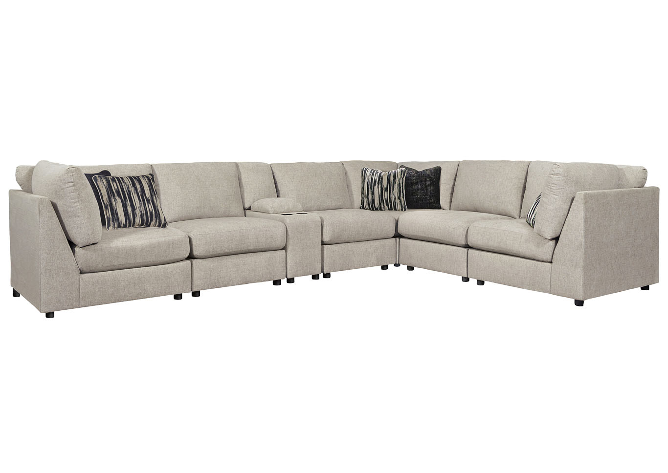 Kellway Bisque Right Arm Facing Sectional w/Console,Signature Design By Ashley