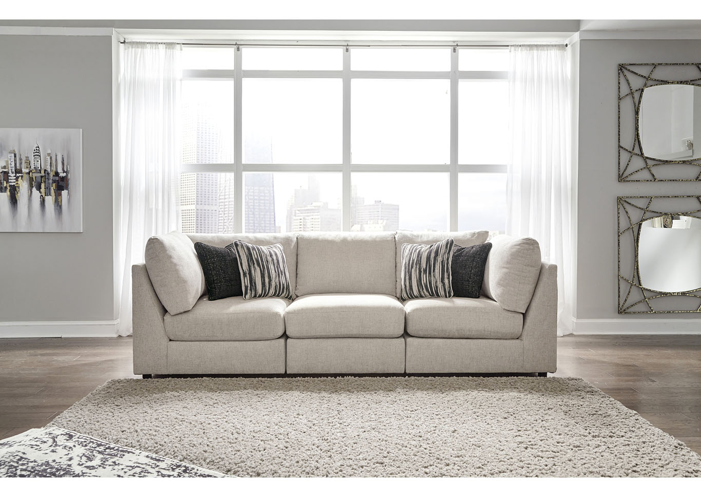 Kellway Bisque 3 Piece Sectional,Signature Design By Ashley