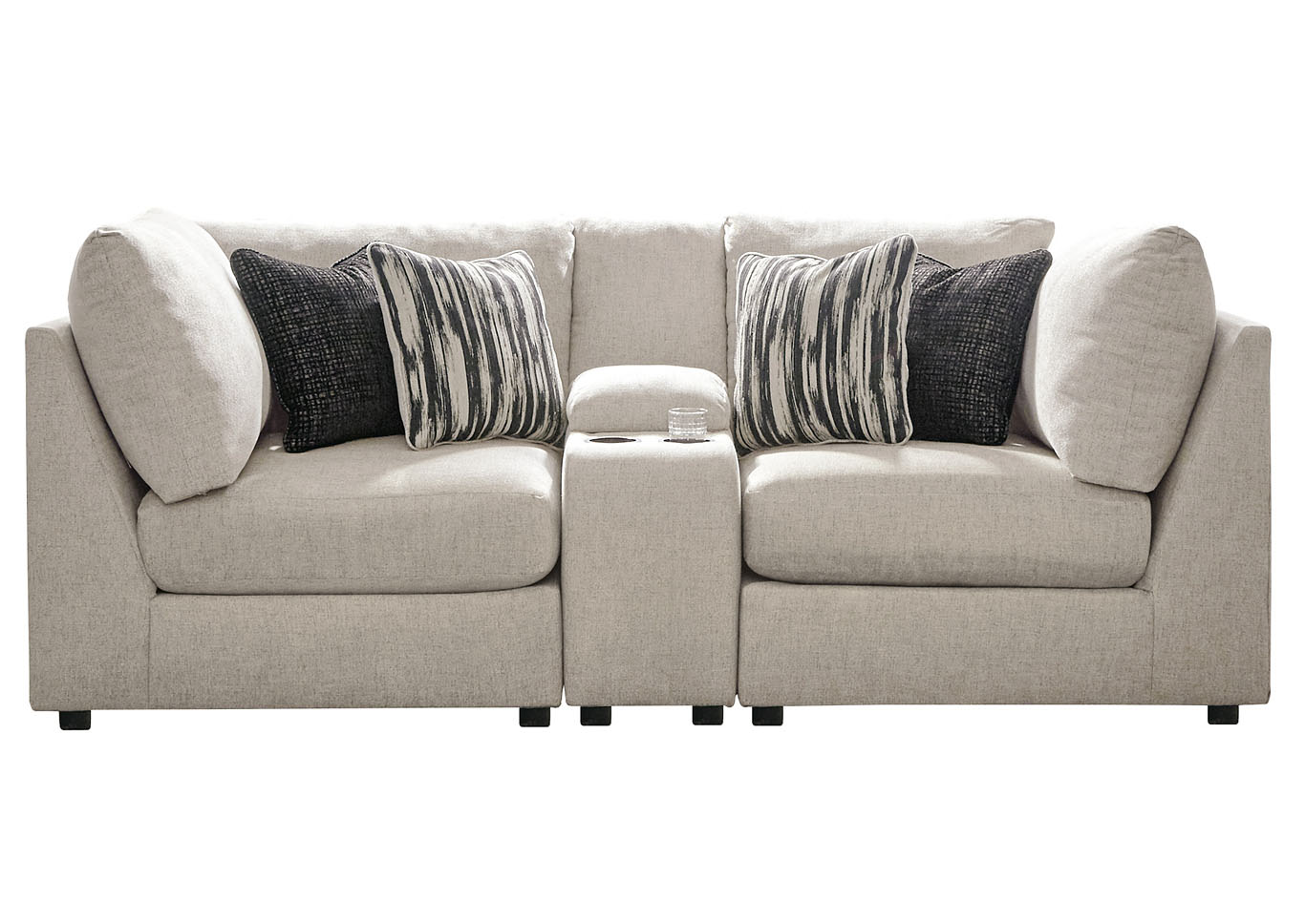 Kellway Bisque 2 Piece Sectional w/Console,Signature Design By Ashley