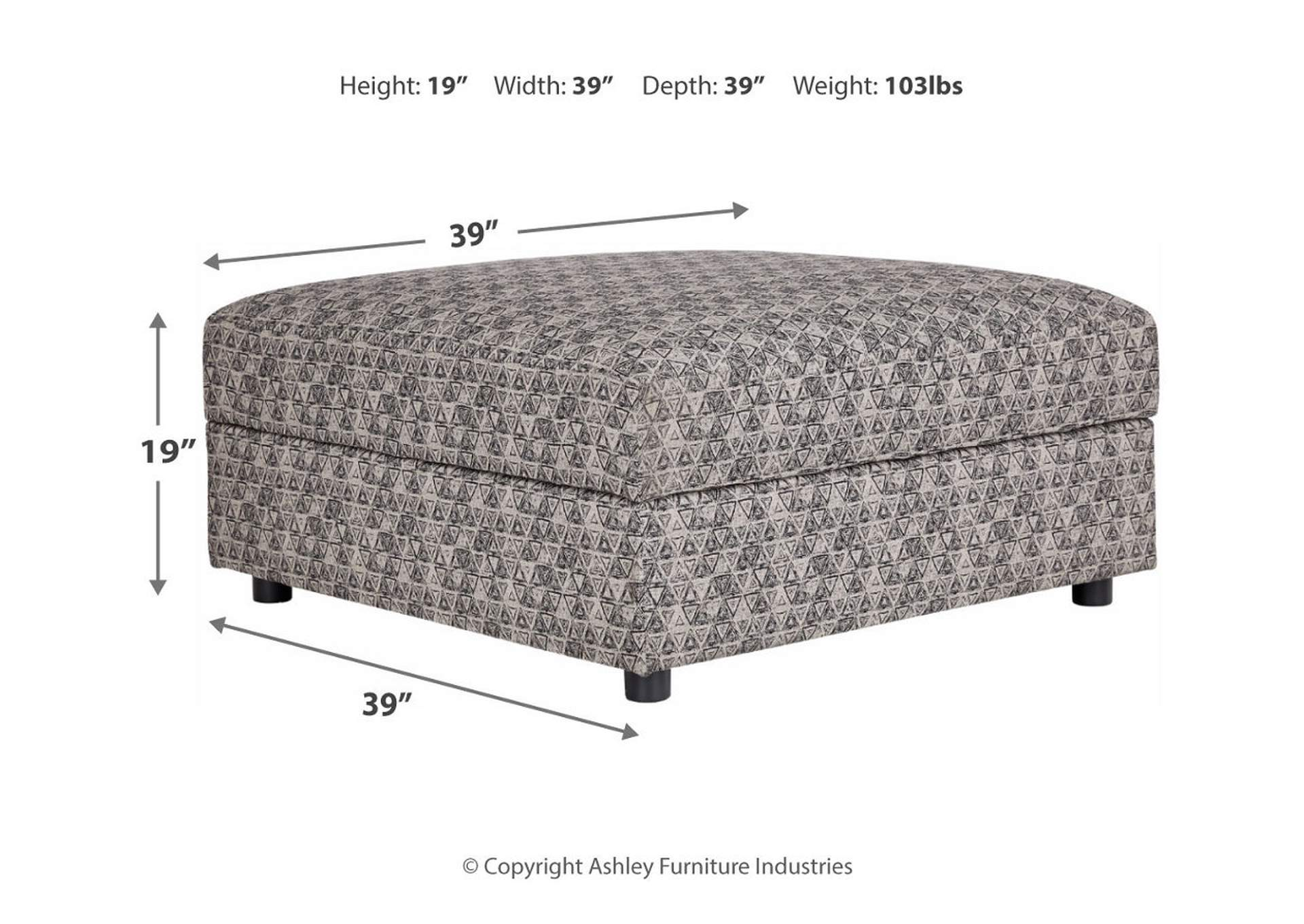 Kellway Bisque Ottoman w/Storage,Signature Design By Ashley