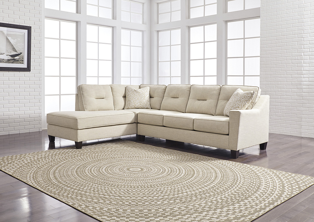 Kirwin Nuvella Sand Left Facing Corner Chaise Sofa Sectional,Benchcraft