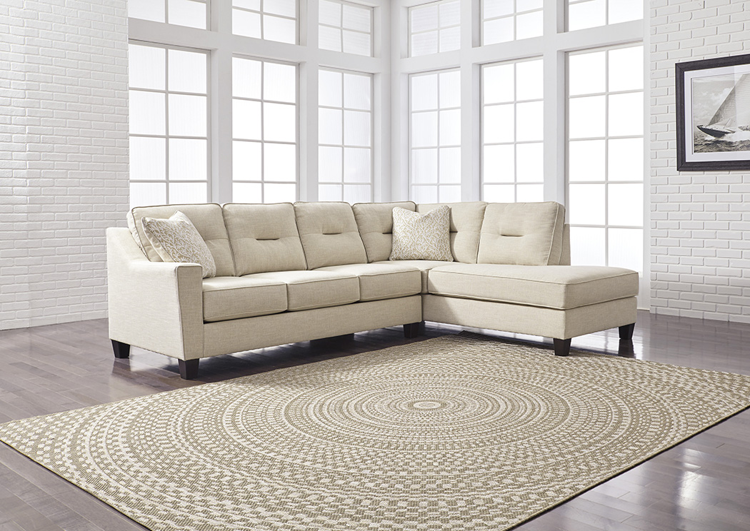 Kirwin Nuvella Sand Right Facing Corner Chaise Sofa Sectional,Benchcraft