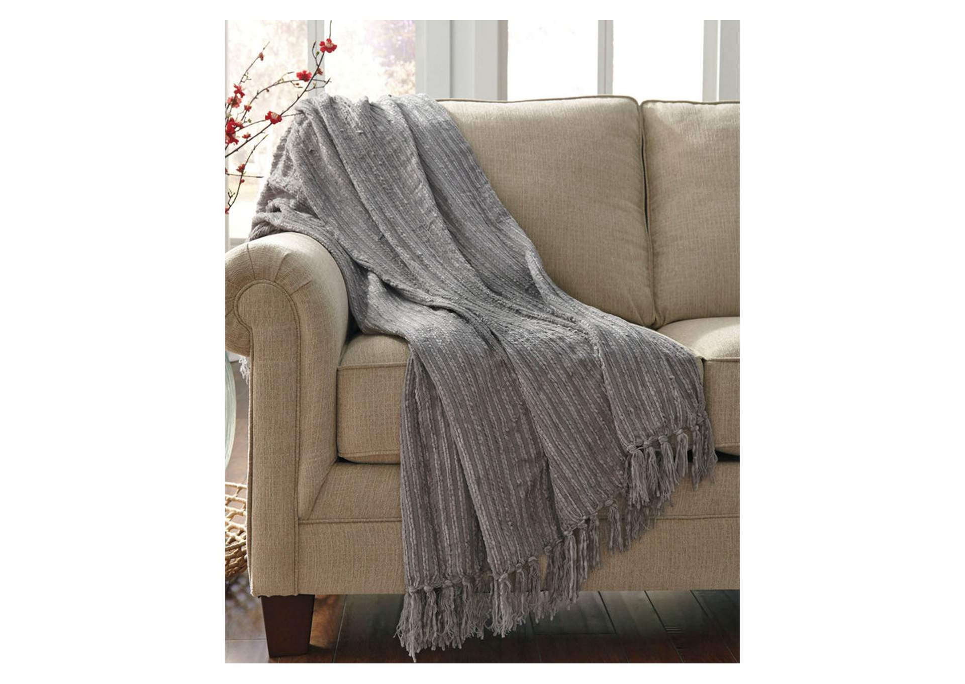 Noland Gray Throw,Signature Design By Ashley