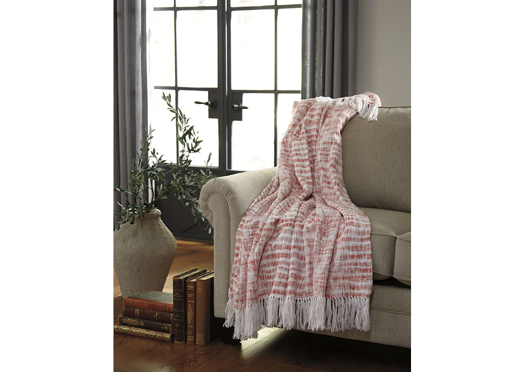 Cassbab Coral Throw (3/CS),Signature Design By Ashley