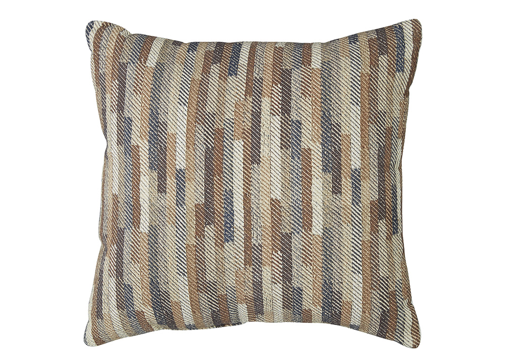 Daru Cream/Brown/Blue Pillow (4/CS),Signature Design By Ashley