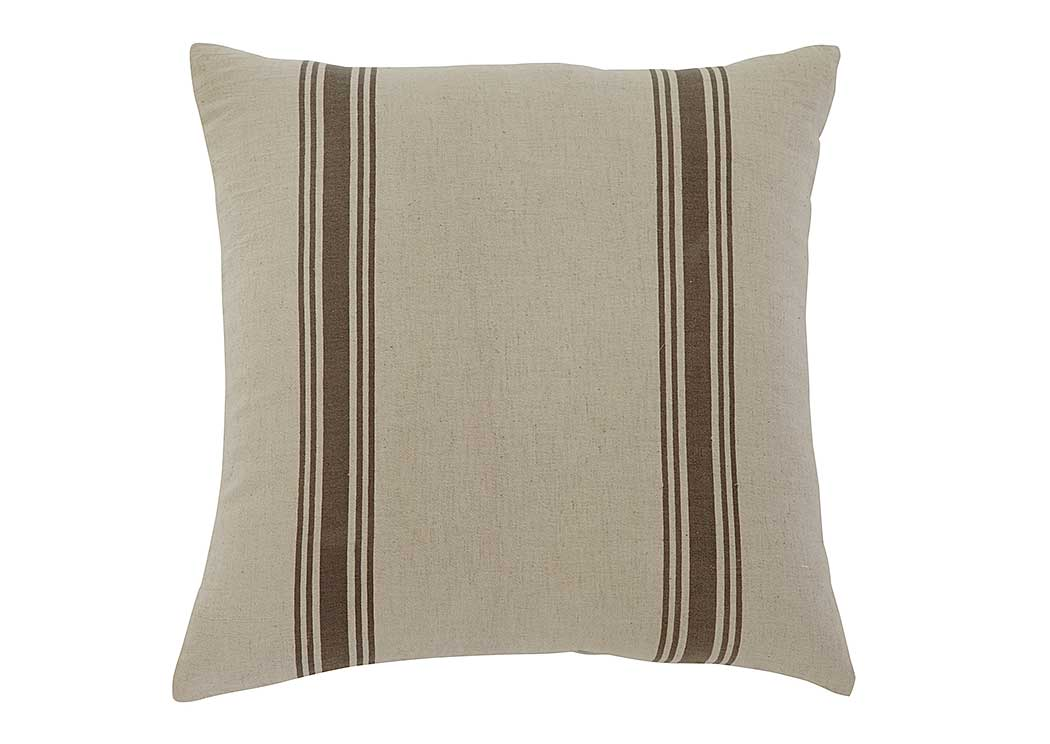<Striped Natural Pillow