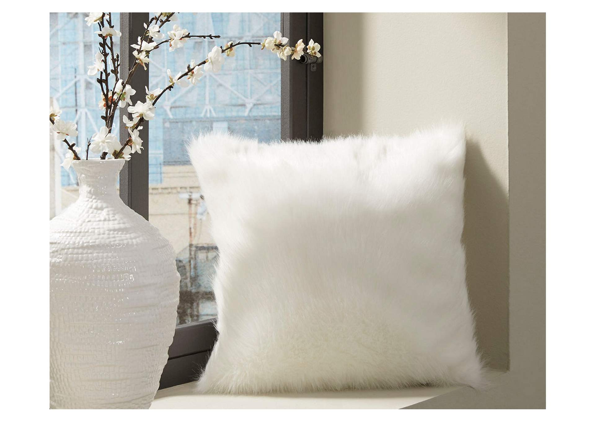 Himena White Pillow,Signature Design By Ashley
