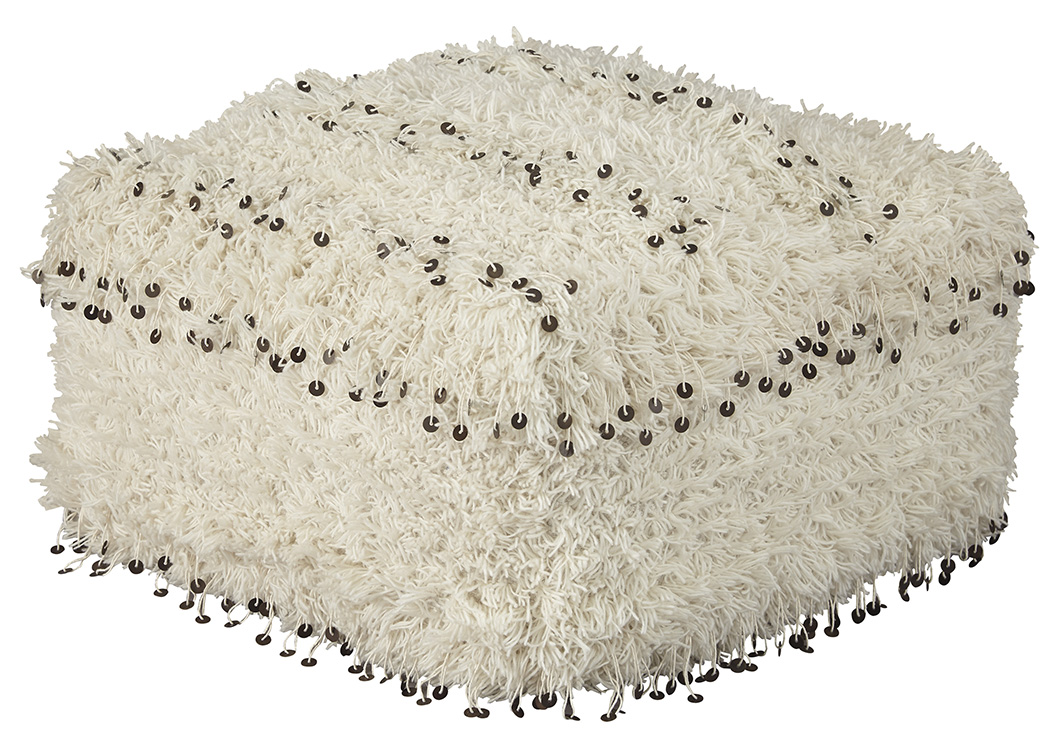 Celeste Oatmeal Pouf,Signature Design By Ashley
