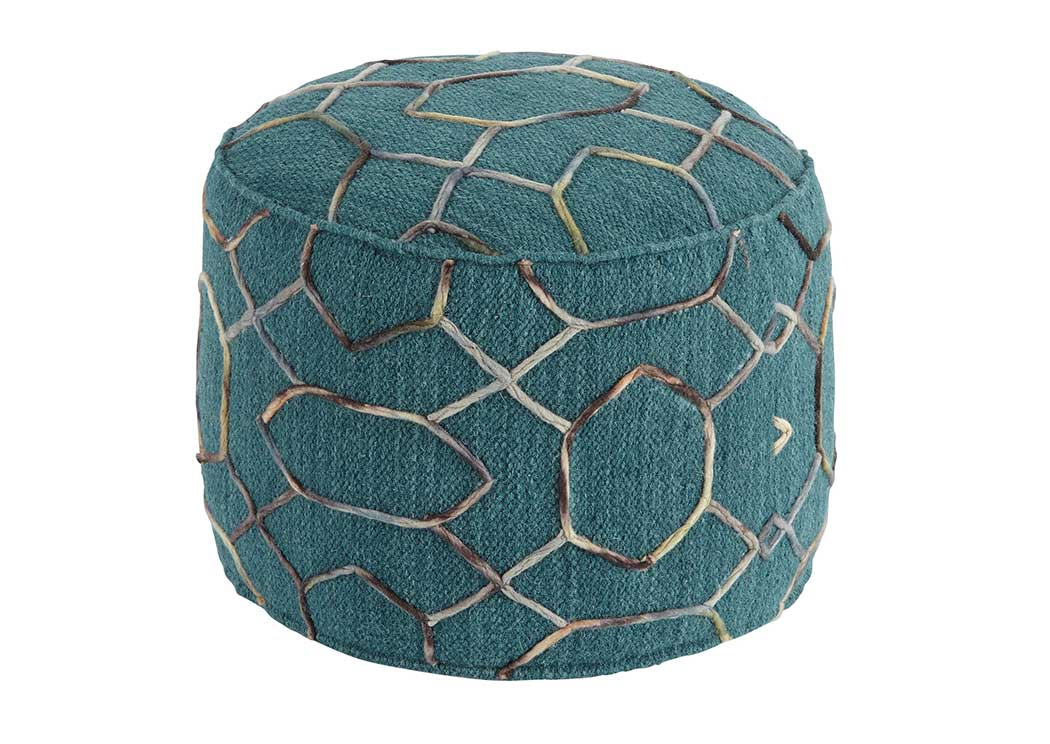 Overdyed Dark Green Pouf,Signature Design By Ashley