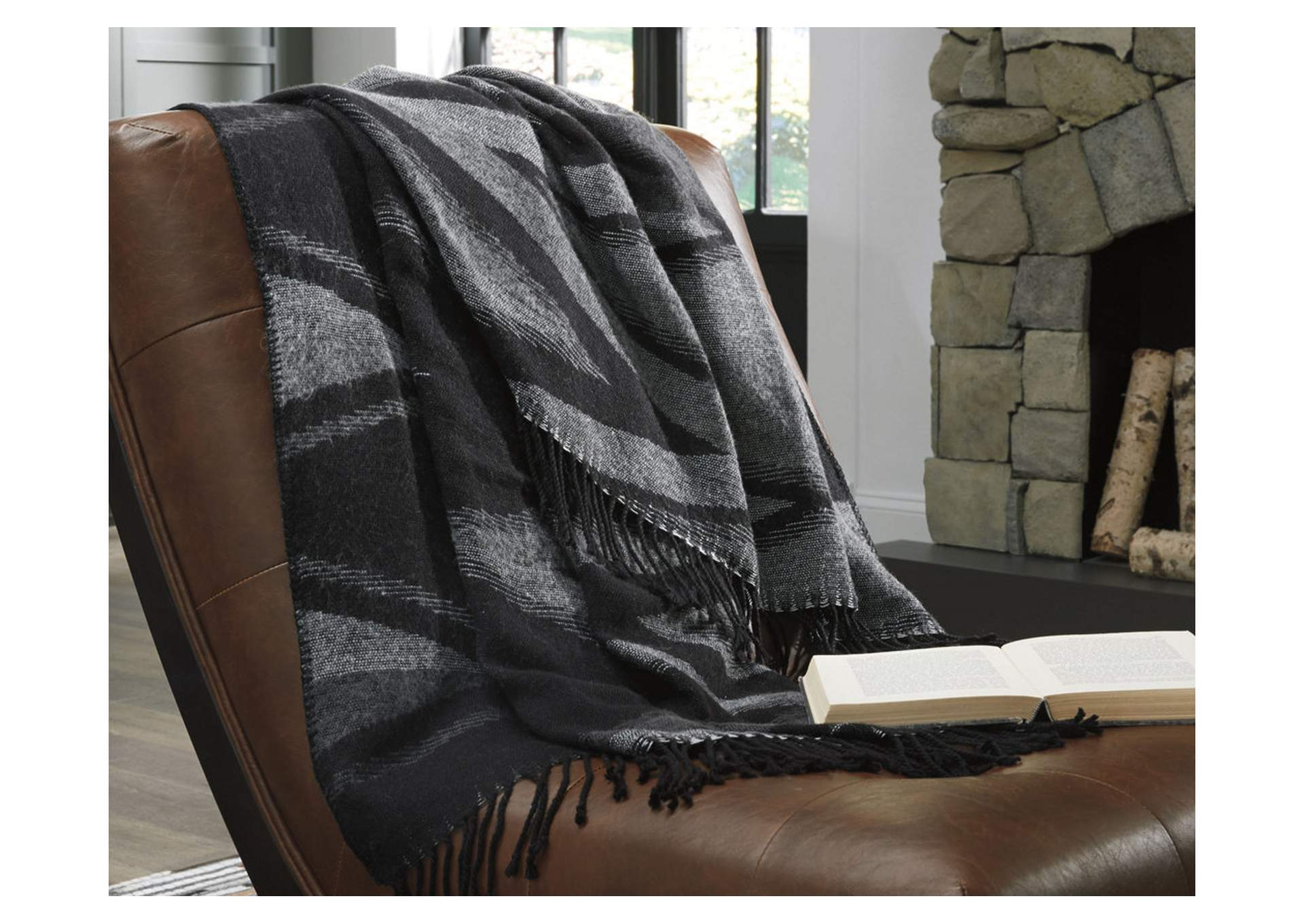 Cecile Black/Gray Throw (Set of 3),Signature Design By Ashley