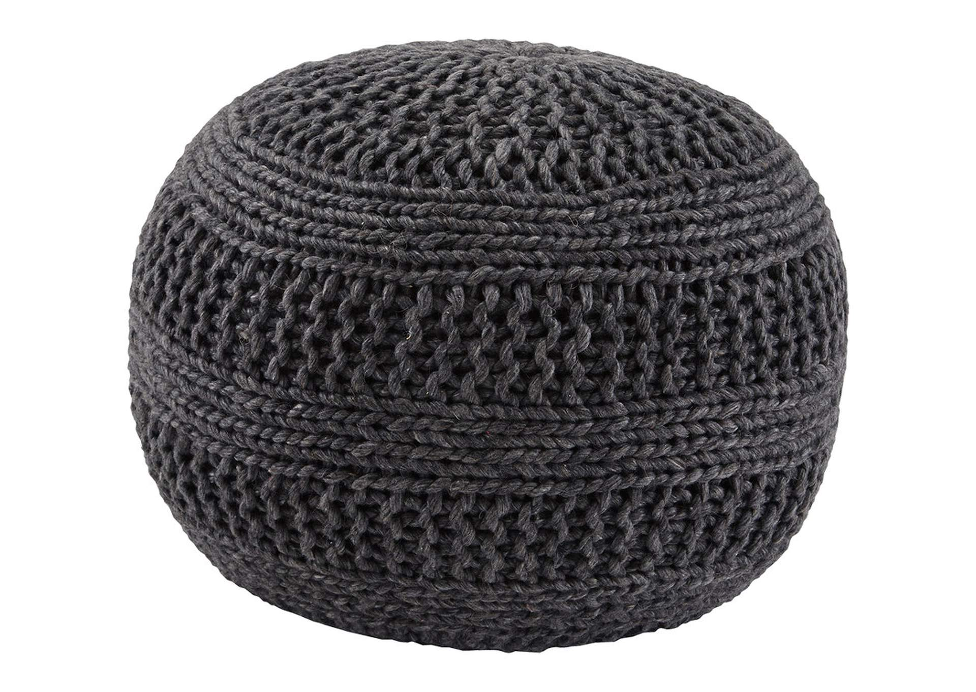 Benedict Charcoal Pouf,Direct To Consumer Express