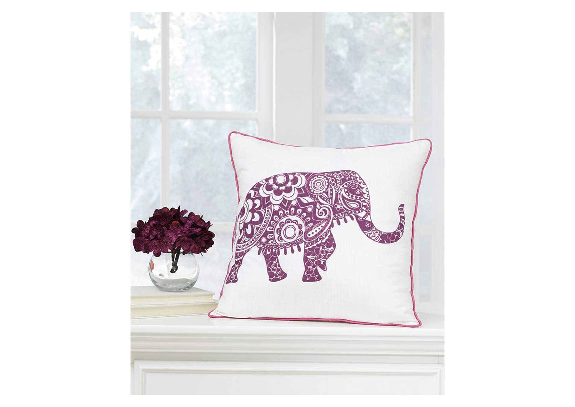 Medan White/Purple Pillow (4/CS),Signature Design By Ashley