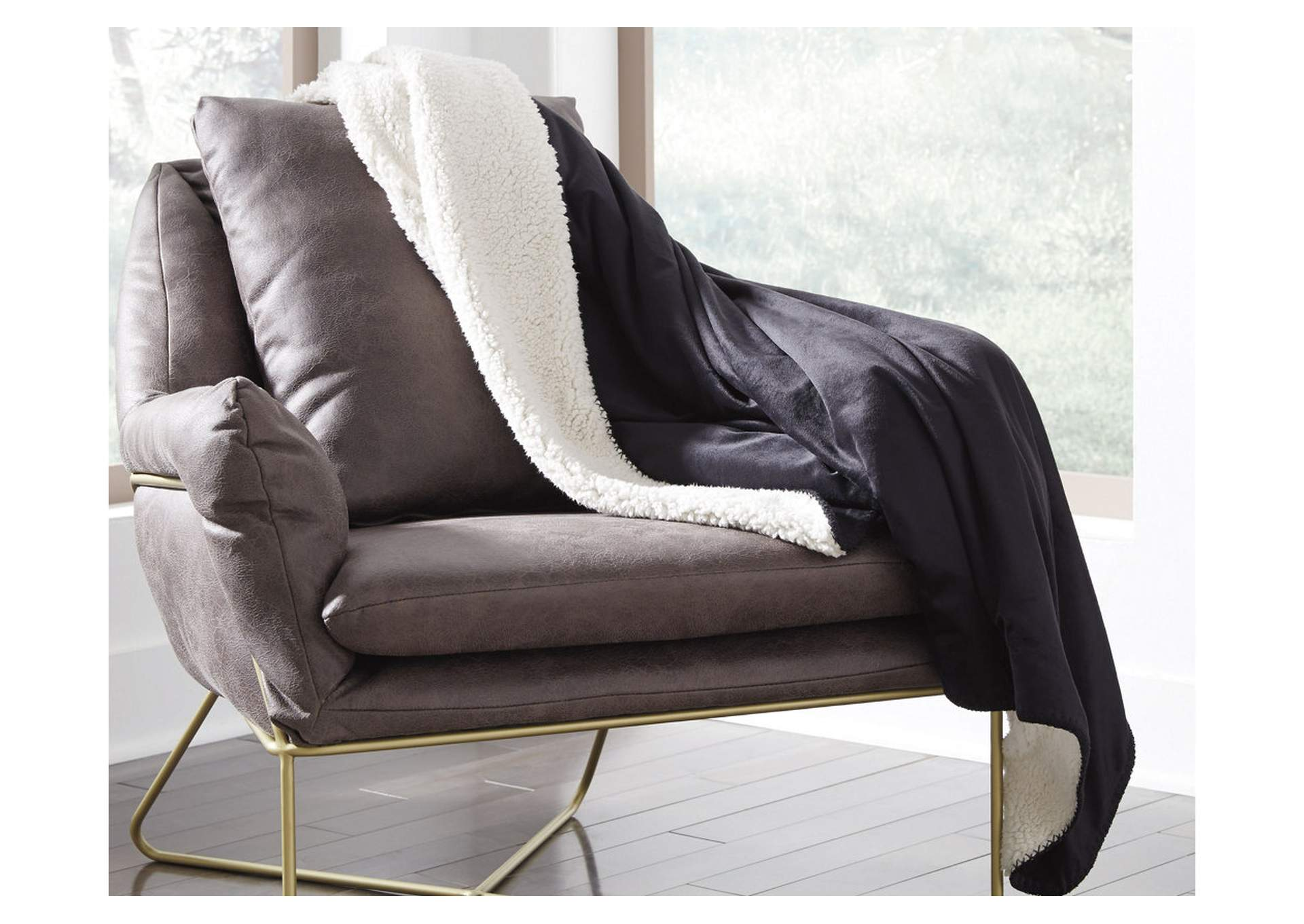 Romeo Black Throw (Set of 3),48 Hour Quick Ship