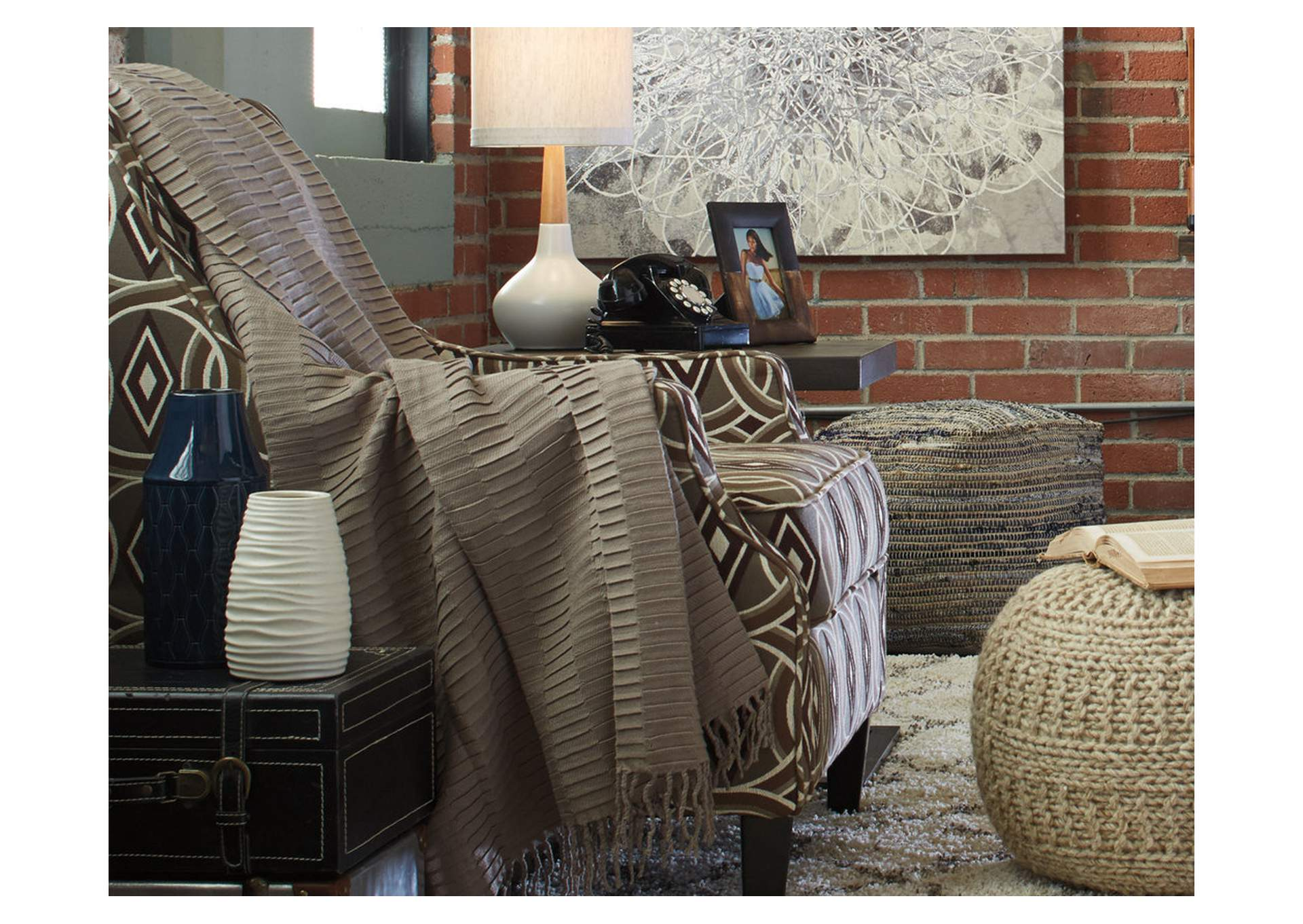 Mendez Taupe Throw (3/CS),Signature Design By Ashley