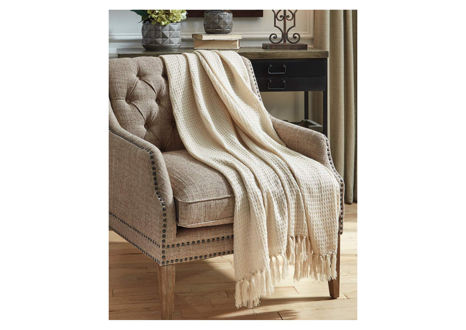 Rowena Beige Throw (Set of 3),Signature Design By Ashley