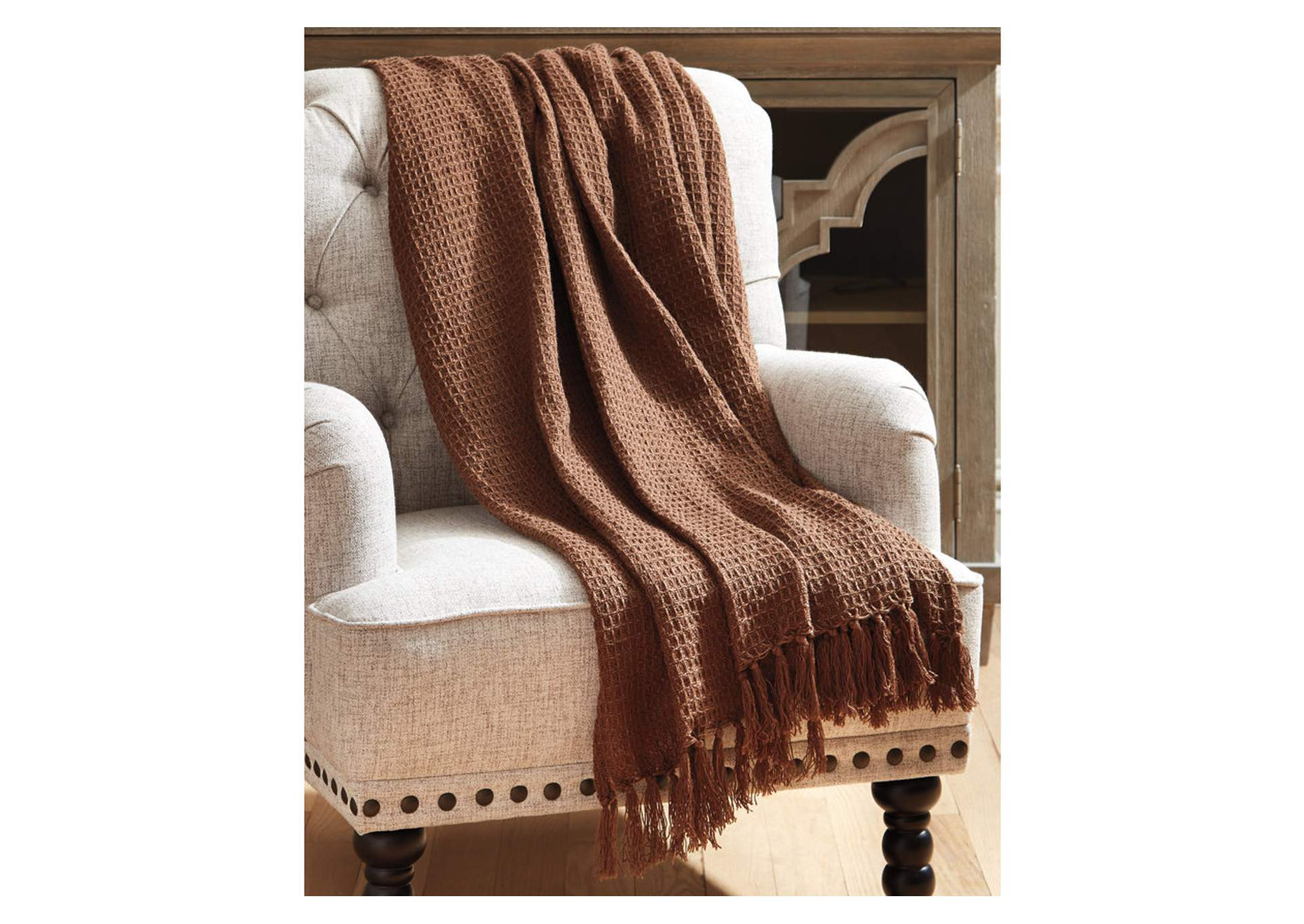 Rowena Brown Throw (Set of 3),Signature Design By Ashley