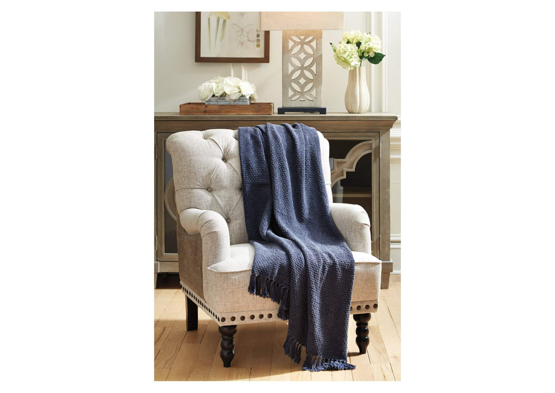 Yasmin Blue Throw (Set of 3),Signature Design By Ashley