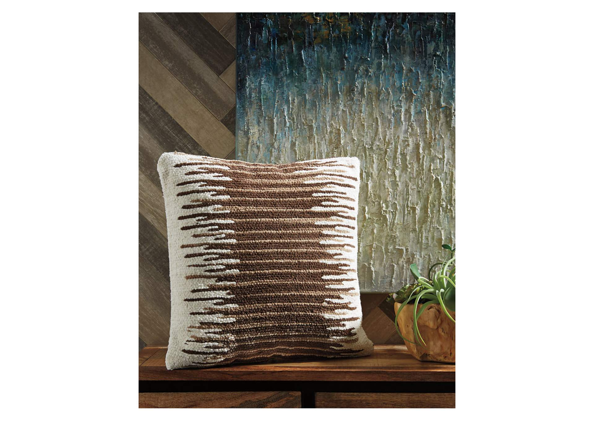 Wycombe Cream/Brown Pillow,Signature Design By Ashley