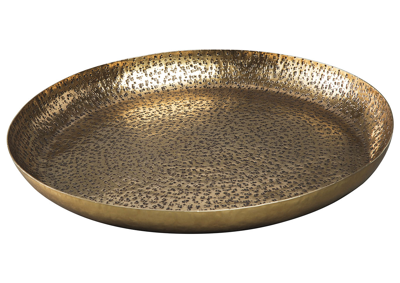 Morley Antique Brass Finish Tray,Signature Design By Ashley