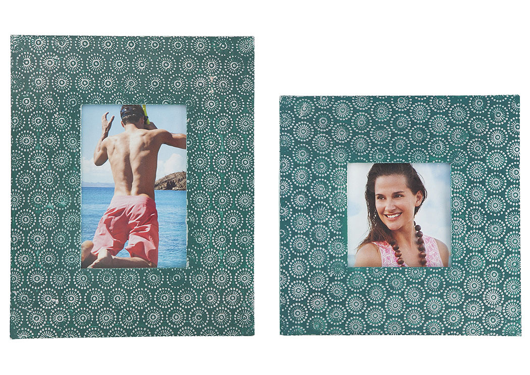 Bansi Teal Photo Frame (Set of 2) (2/CS),Signature Design By Ashley