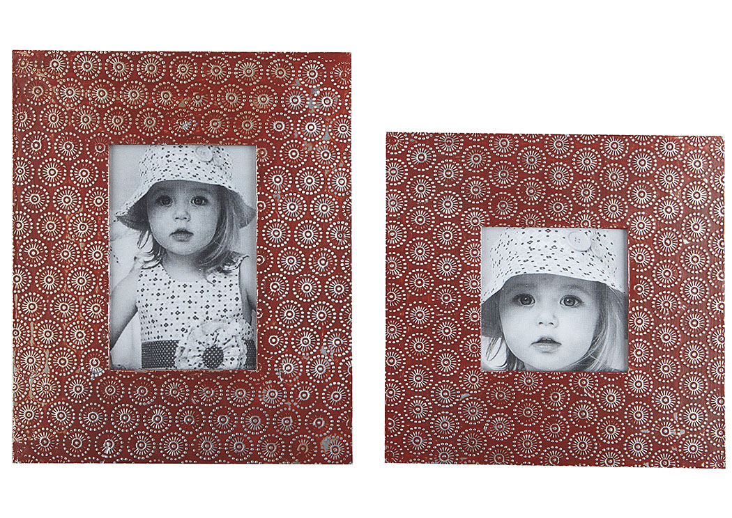 Bansi Orange Photo Frame (Set of 2) (2/CS),Signature Design By Ashley