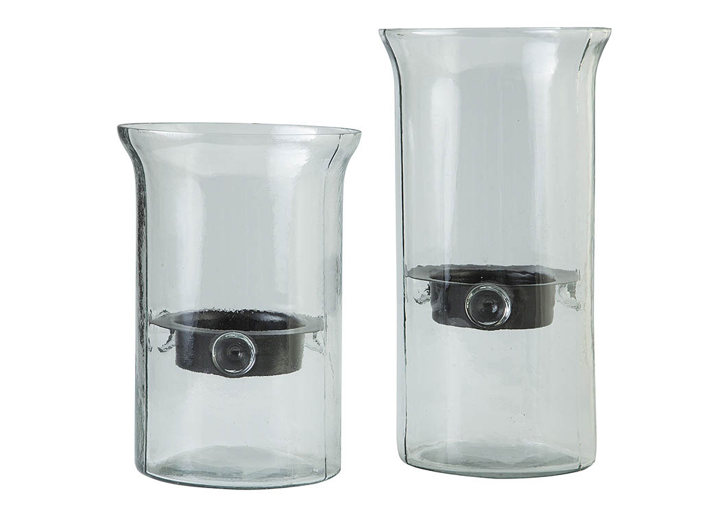 Kadeem Clear Candle Holder (Set of 2),Signature Design By Ashley