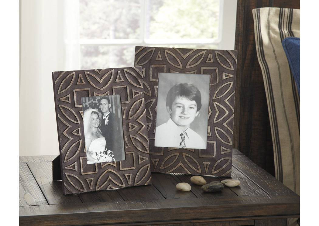 Marquise Antique Black Photo Frame (Set of 2) (2/CS),Signature Design By Ashley