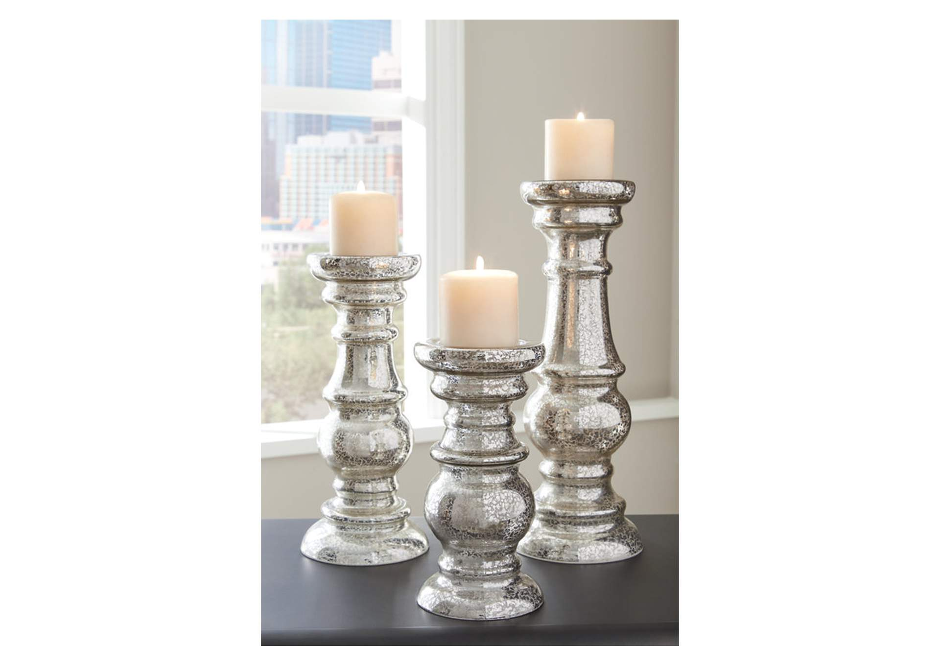 Rosario Silver Candle Holder (Set of 3),Signature Design By Ashley