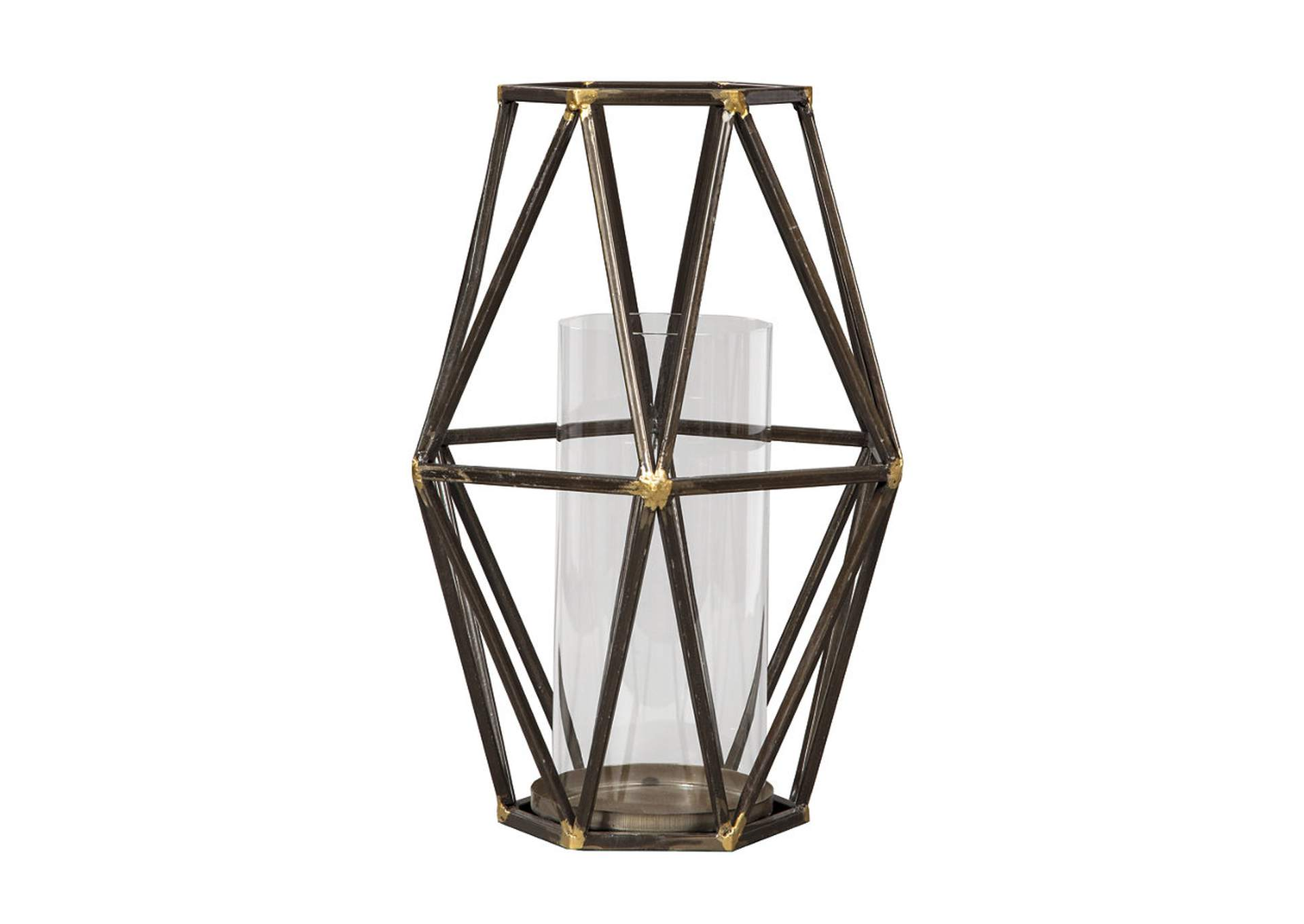 dc25ec9b39 Goree's Furniture - Opelika, AL Devo Black/Gold Finish Candle Holder