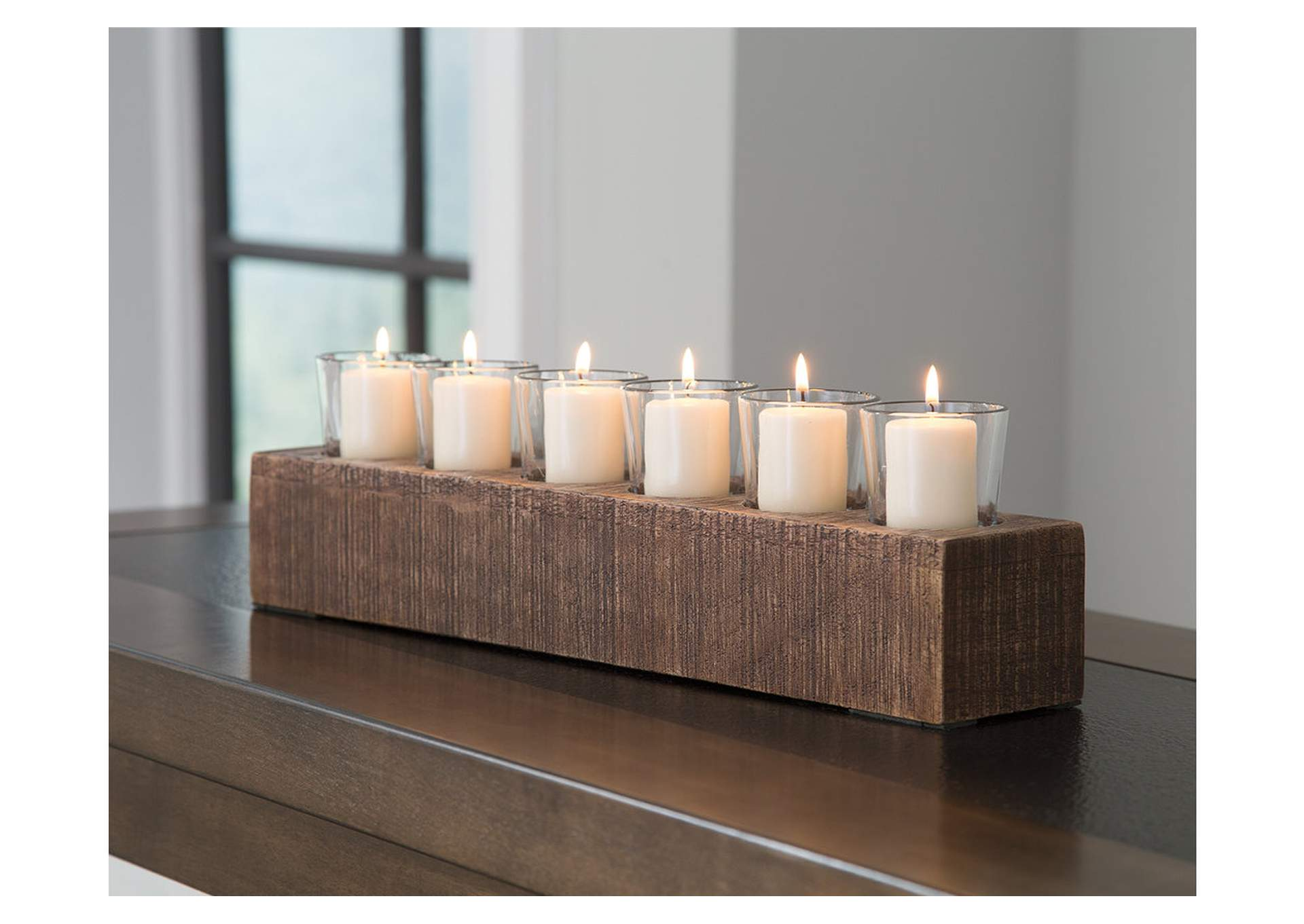 Cassandra Brown Candle Holder,Signature Design By Ashley