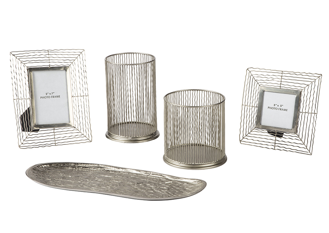 Dympna Silver Accessory Set,Signature Design By Ashley