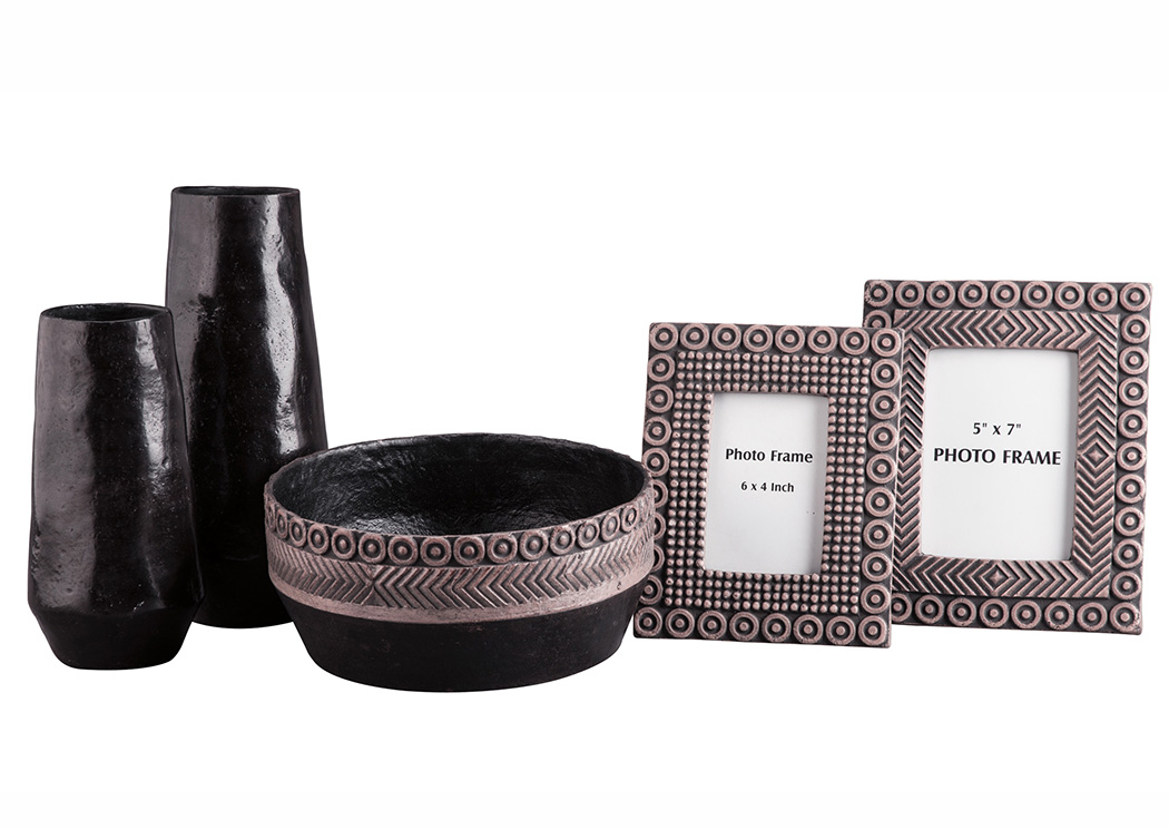 Deo Black/Tan Accessory Set (Set of 5),Signature Design By Ashley