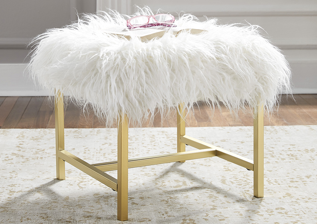 Elissa White Stool,Signature Design By Ashley