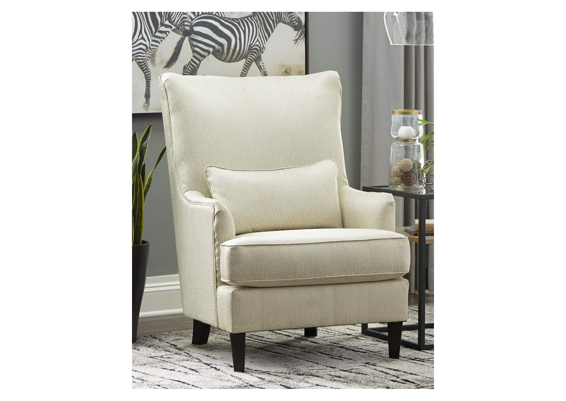 Miraculous Ivan Smith Paseo White Accent Chair Bralicious Painted Fabric Chair Ideas Braliciousco