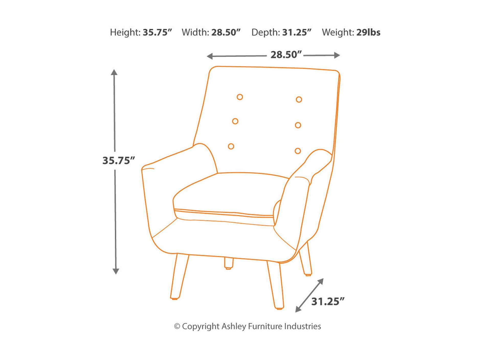 Zossen Ivory Accent Chair,Signature Design By Ashley