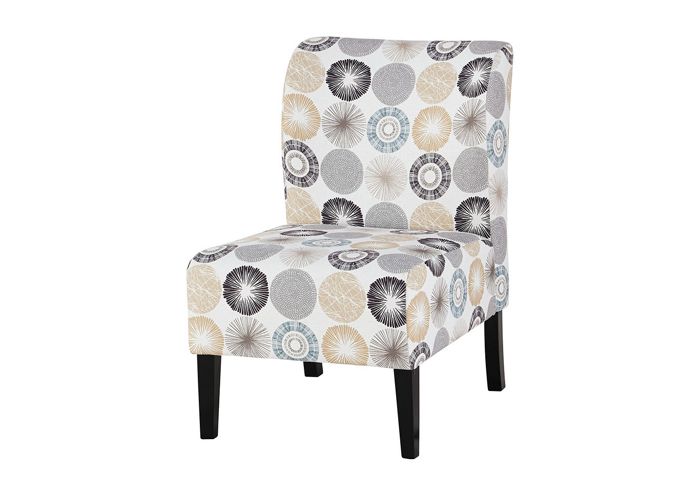 Triptis Gray/Tan Accent Chair,48 Hour Quick Ship