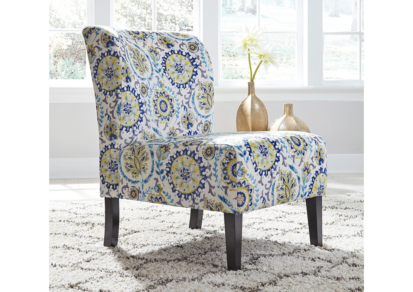 Triptis Blue Patterned Accent Chair,Signature Design By Ashley