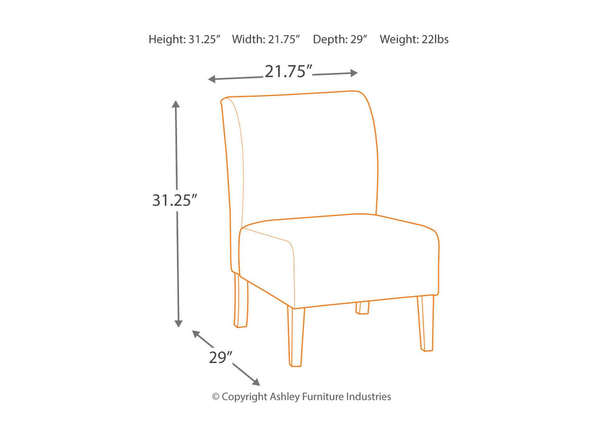 Triptis Denim Accent Chair,Signature Design By Ashley