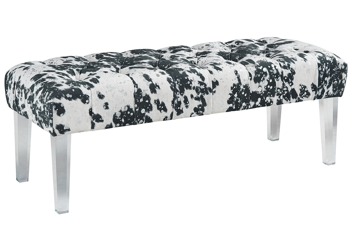 Brooklee Black/Cream/Silver Accent Bench,Signature Design By Ashley