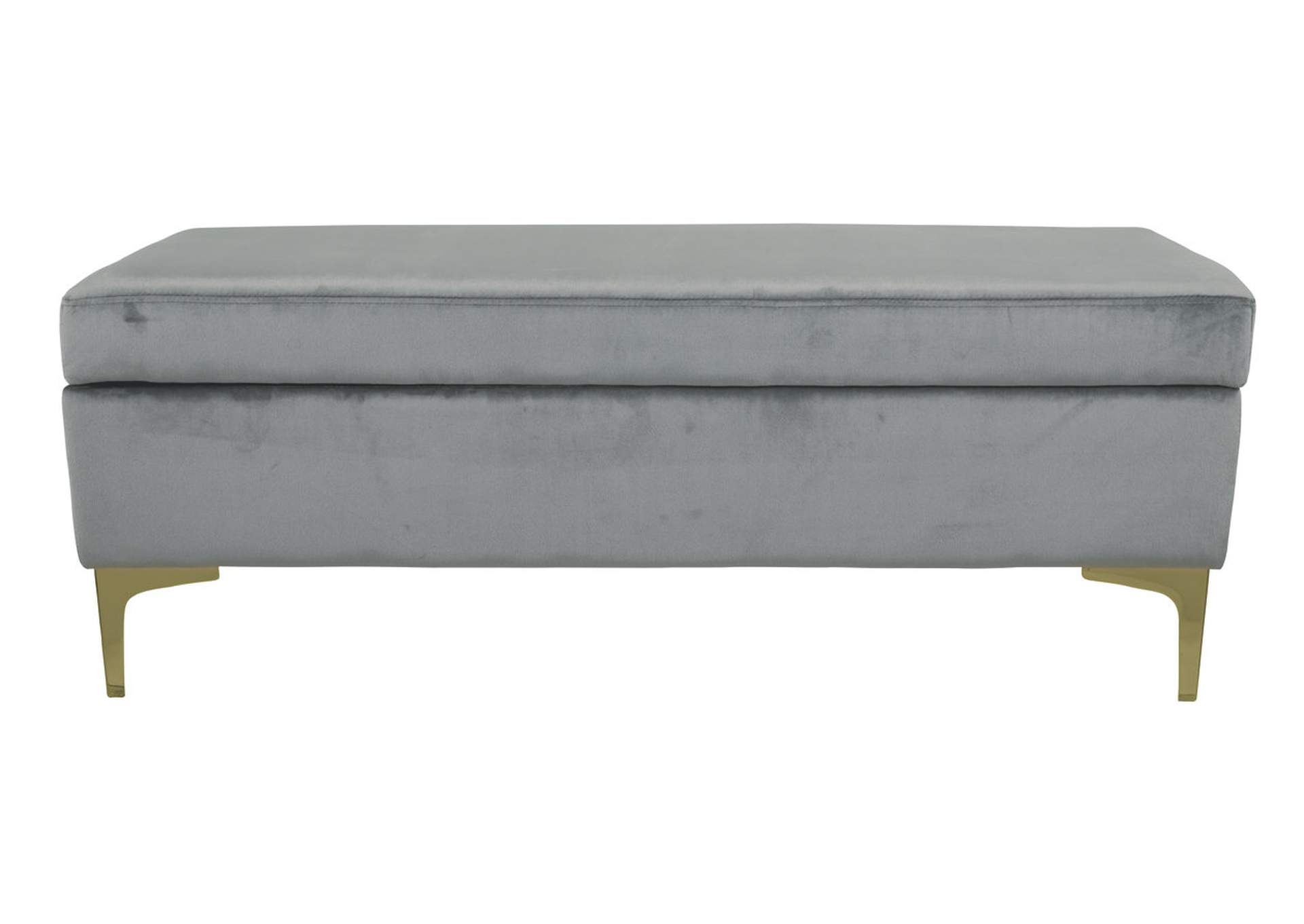 Bachwich Gray Storage Bench,Signature Design By Ashley