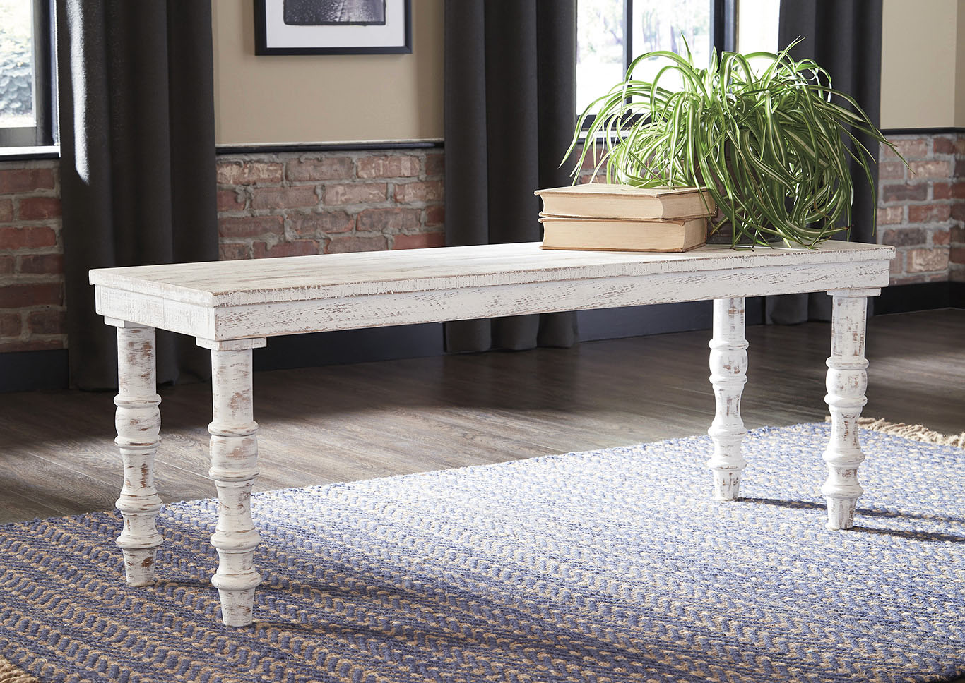 Dannerville White Accent Bench,Signature Design By Ashley