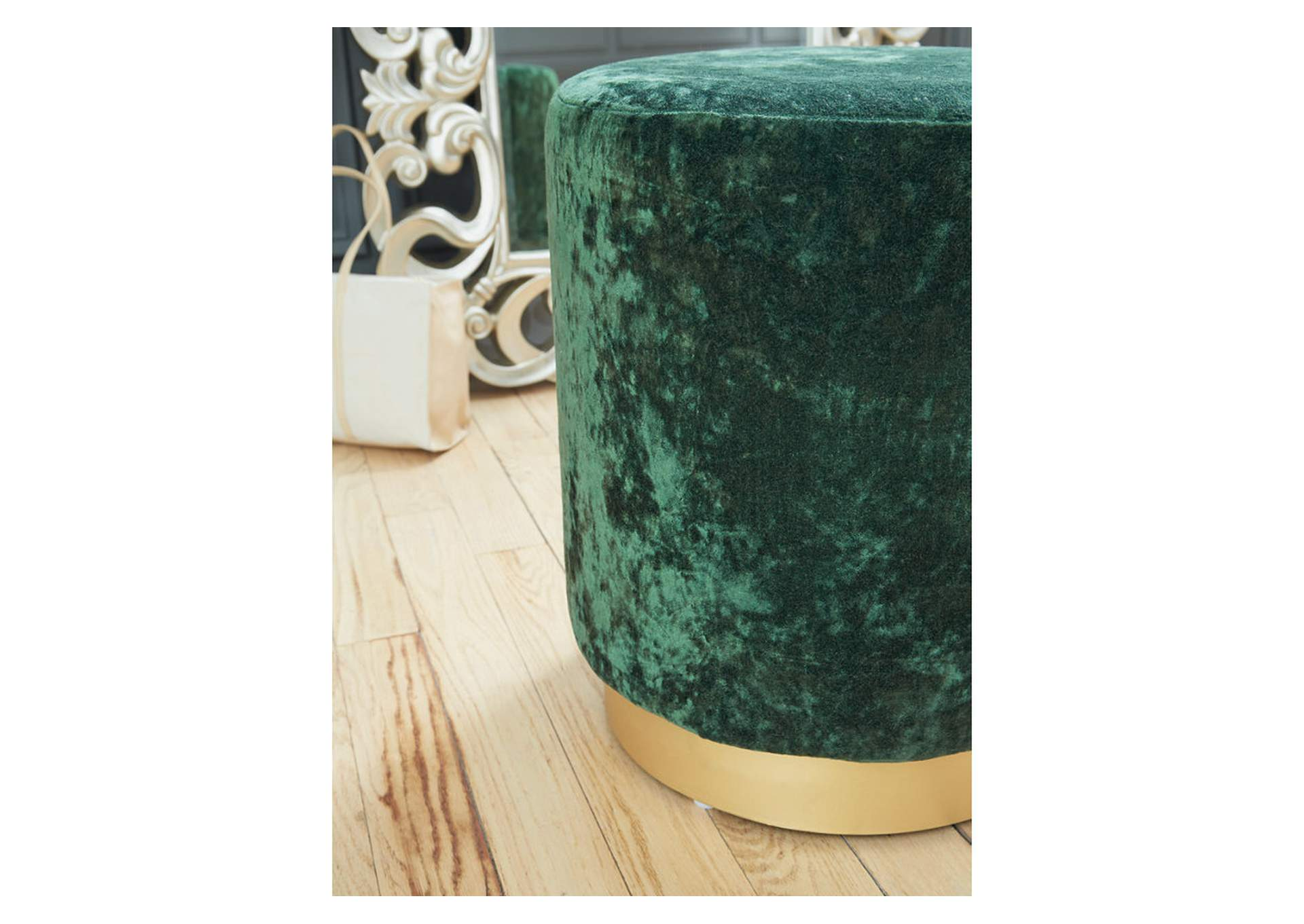Lancer Green Accent Ottoman,Signature Design By Ashley