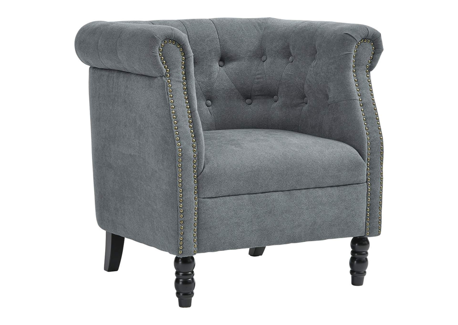 Factory Expo Furniture Jacquelyne Slate Blue Accent Chair