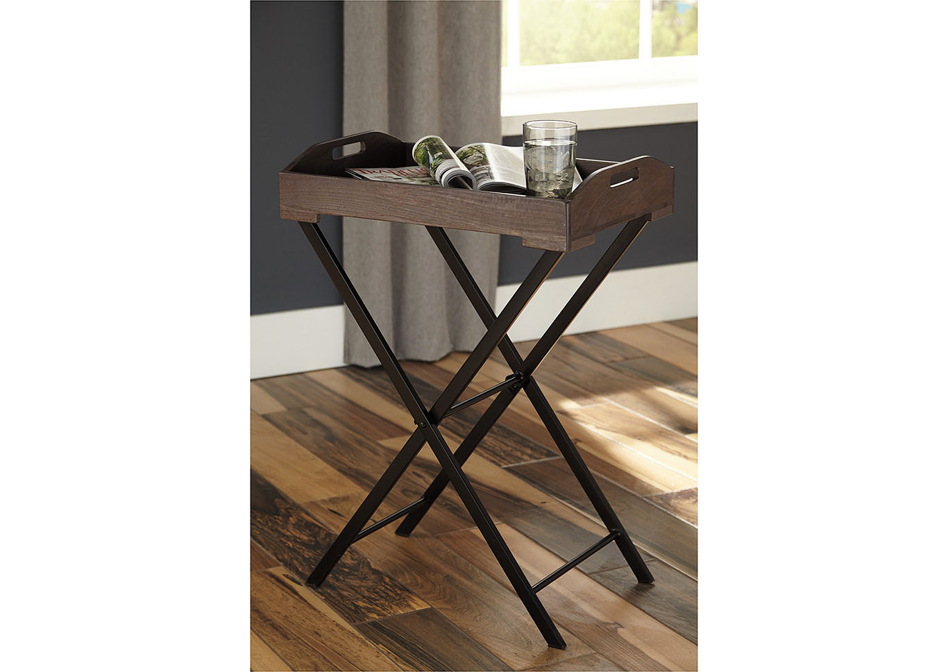 Cadocridge Gray/Black Accent Table,Direct To Consumer Express